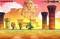In Wonder Boy The Dragon's Trap si può passare dalla grafica hd a quella 8 bit