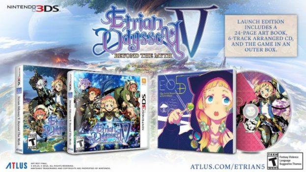 Etrian Odyssey V: Beyond the Myth Nintendo 3DS Bonus lancio